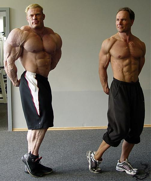 "Dennis Wolf next to a ""famous"" german natural bodybuilder"